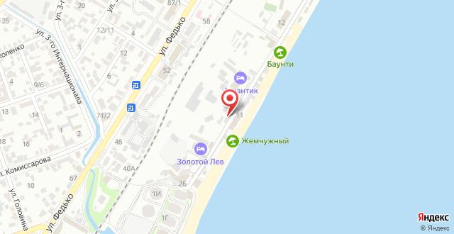 Отель Атлантик на карте