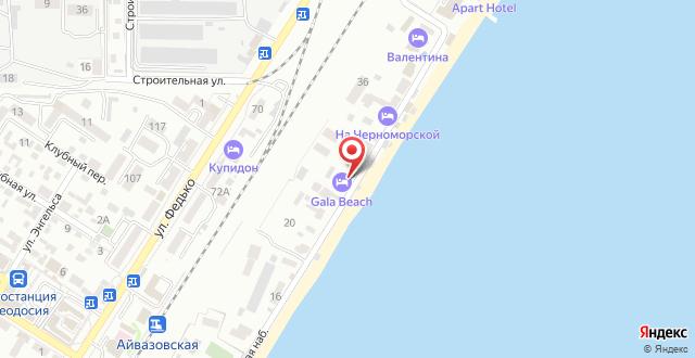 Отель На Черноморской на карте