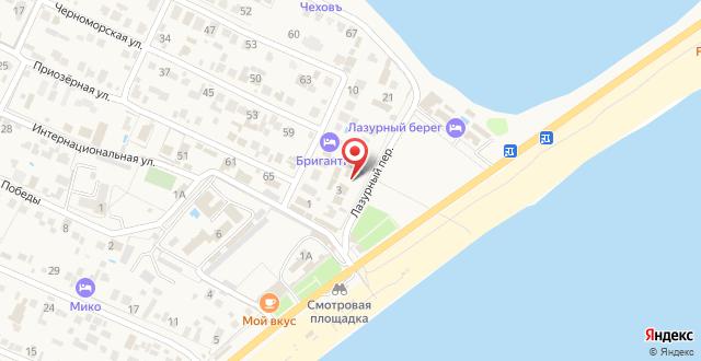 Гостевой дом Сефа на карте