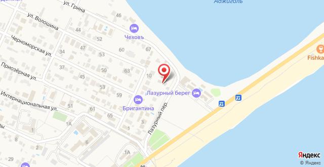 Отель Парус на карте