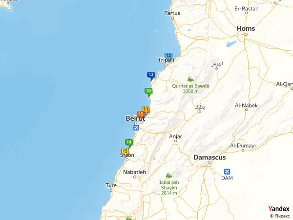 Crude oil to Lebanon