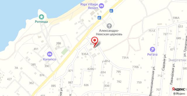 Гостиница Крымские Дачи на карте