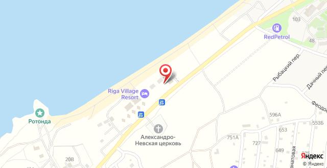 База отдыха Riga Village Resort на карте