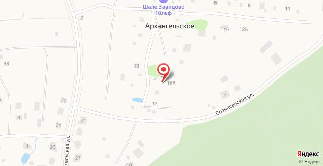 Шале Завидово Гольф на карте