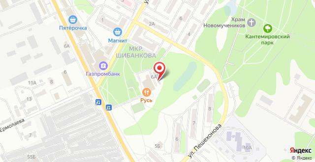 Отель Акварели Рус на карте
