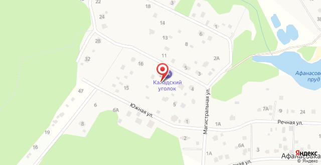 Отель Канадский уголок на карте