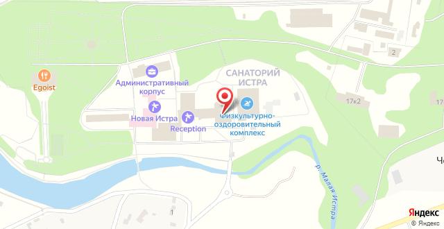 Санаторий Истра на карте