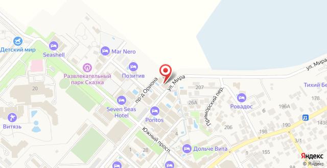 Гостиница Островок-1 на карте