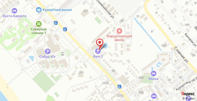 Пансионат Фея-3 на карте