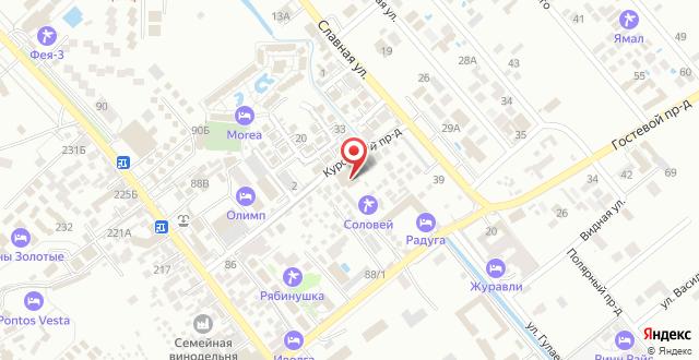 Курортный отель Олимп на карте