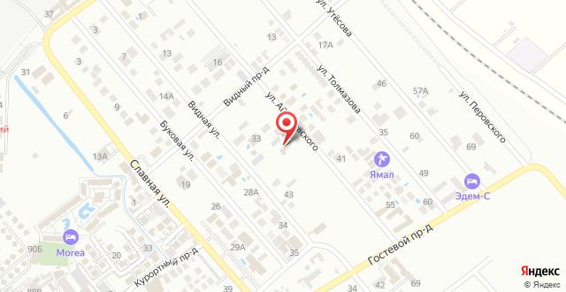 Гостевой дом На Айвазовского 38 на карте