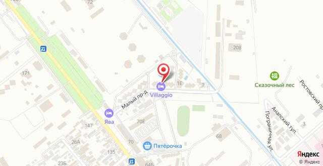 Гостиница Villaggio на карте
