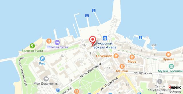 Гостиница Атлантида на карте