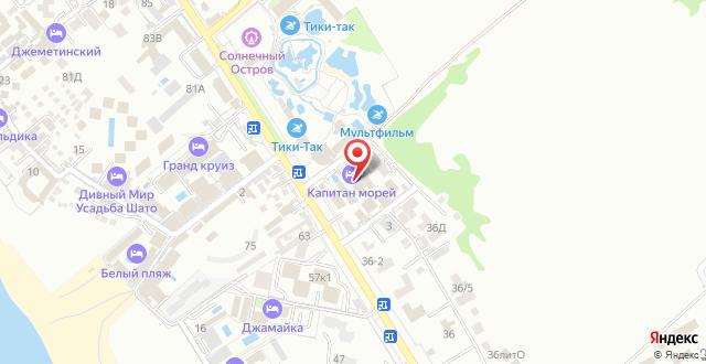 Отель Капитан морей на карте