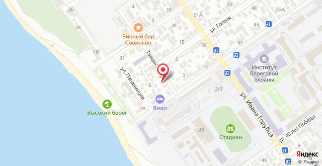 Гостевой дом На Таманской на карте