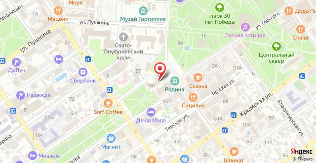 Отель Эра на карте