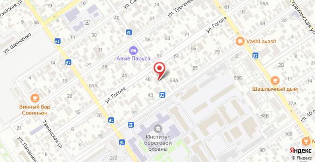 Пансионат Рузанна  на карте