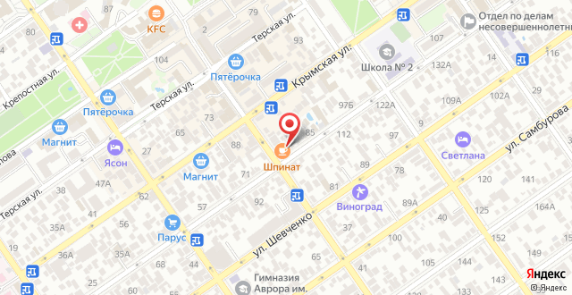 Отель Ламанш на карте