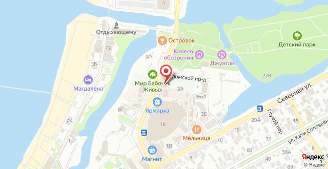 Гостиница Сибирь на карте