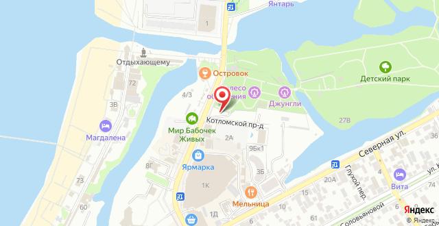 Отель У Моря на карте