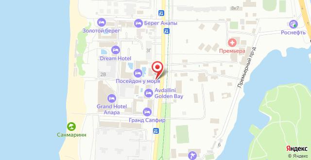 Отель Посейдон-4 на карте