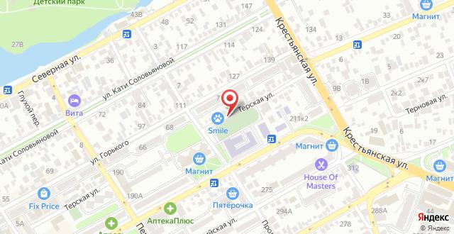 Гостевой дом Терская 221 на карте