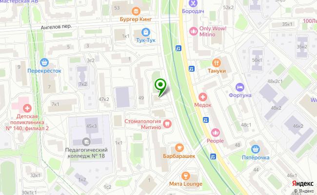 Сбербанк Москва ул. Митинская 47 карта