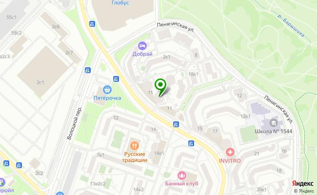 Сбербанк Москва ул. Генерала Белобородова 11 карта