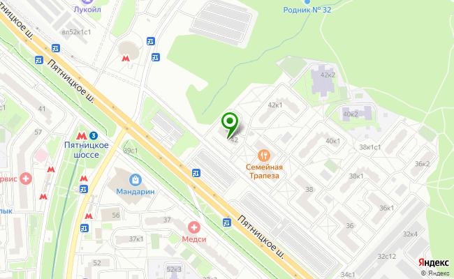 Сбербанк Москва шоссе Пятницкое 42 карта