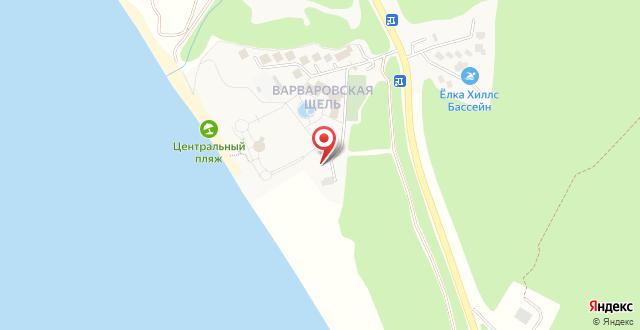 Пансионат Шингари на карте