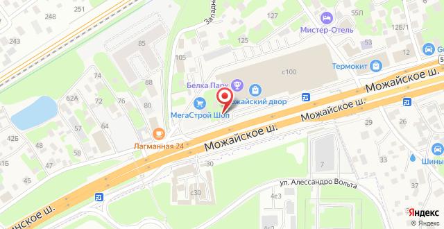Отель Старая Можайка на карте
