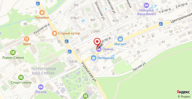 Гостиница Бонжур на карте