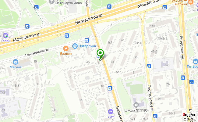 Сбербанк Москва ул. Вяземская 4 карта