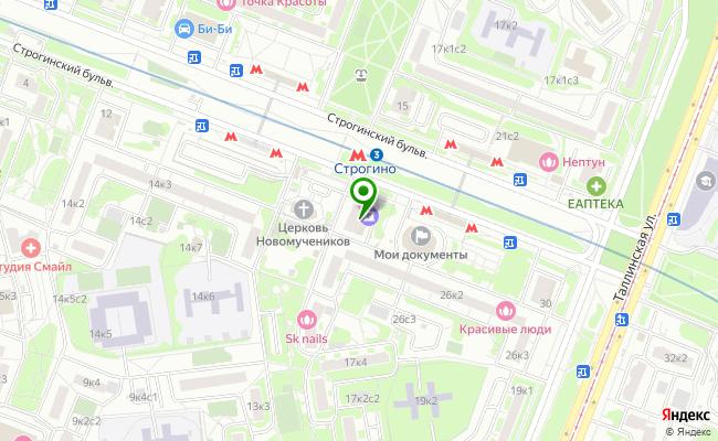 Сбербанк Москва бульвар Строгинский 22 карта