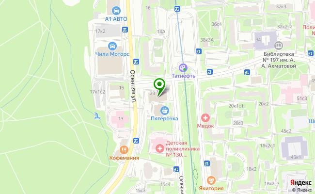 Сбербанк Москва бульвар Осенний 23 карта