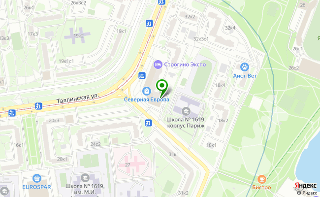 Сбербанк Москва ул. Таллинская 26 карта