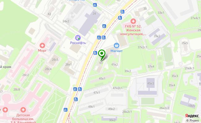 Сбербанк Москва ул. Героев Панфиловцев 43 карта