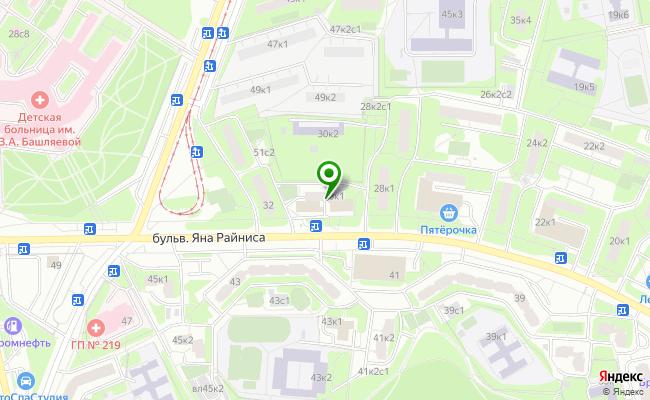 Сбербанк Москва бульвар Яна Райниса 30, корп.1 карта