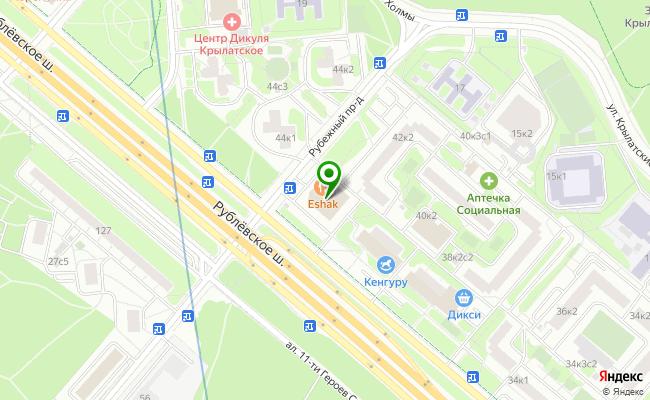 Сбербанк Москва шоссе Рублевское 42, корп.1 карта