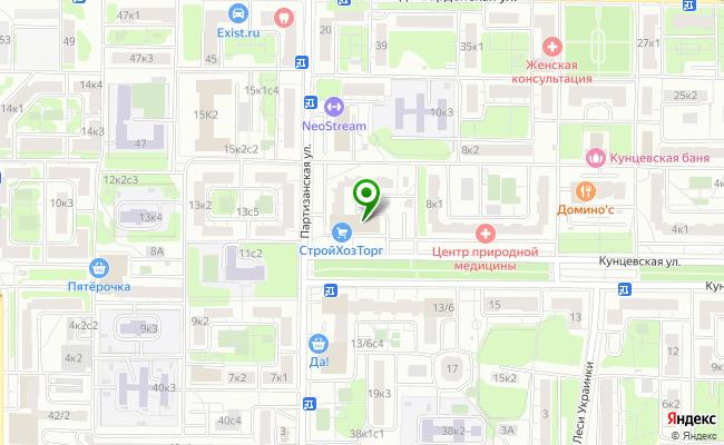 Сбербанк Москва ул. Кунцевская 10 карта