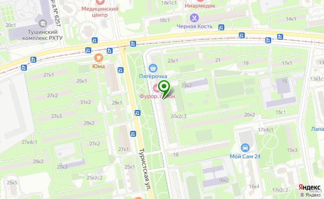 Сбербанк Москва ул. Туристская 20, корп.1 карта