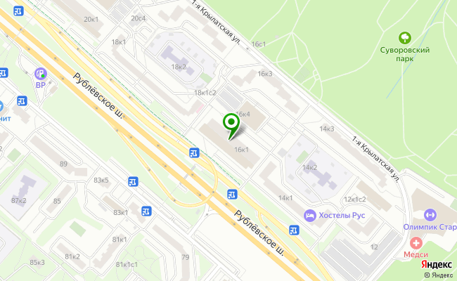 Сбербанк Москва шоссе Рублевское 16, корп.1 карта