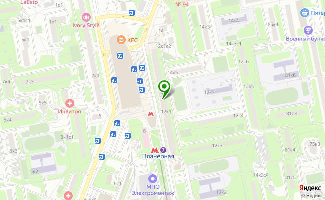 Сбербанк Москва ул. Планерная 12, корп.1 карта