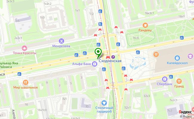 Сбербанк Москва бульвар Яна Райниса 1, корп.1 карта