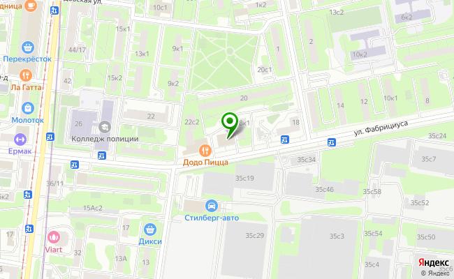 Сбербанк Москва ул. Фабрициуса 18, корп.2 карта