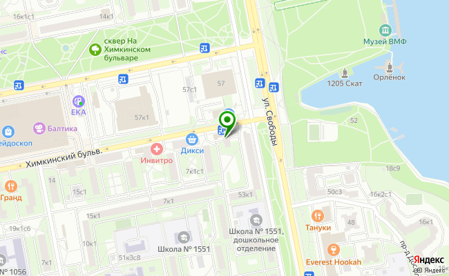 Сбербанк Москва бульвар Химкинский 1 карта