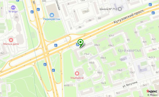 Сбербанк Москва проспект Кутузовский 71, стр.1 карта