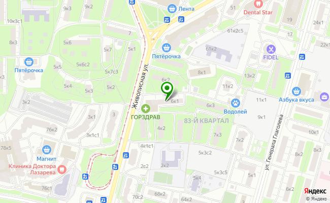 Сбербанк Москва ул. Живописная 6, корп.1 карта
