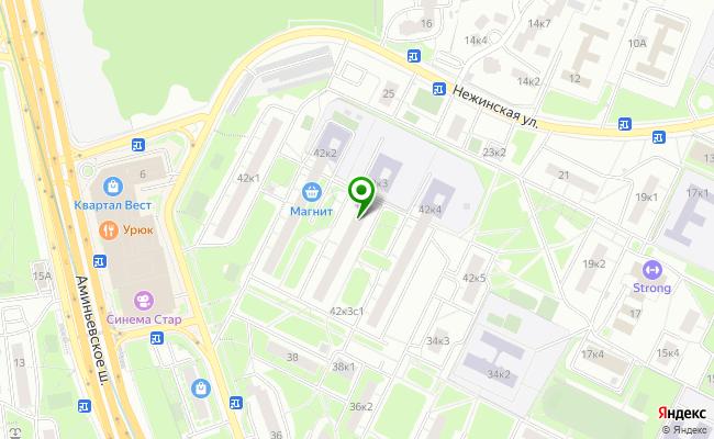 Сбербанк Москва ул. Матвеевская 42, корп.3 карта
