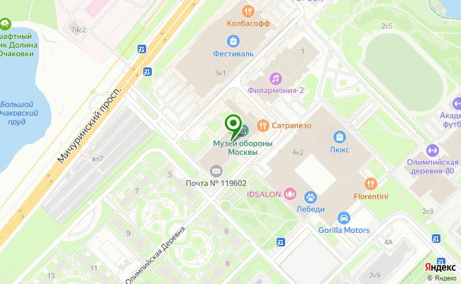 Сбербанк Москва проспект Мичуринский,  Олимпийская деревня 3 карта